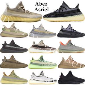 2020 Dimensioni 13 Abez Asriel Israfil Oreo salvia del deserto di cenere Fanale posteriore Lino Kanye West V2 riflettente Mens donne scarpe da corsa Trainer Sneakers