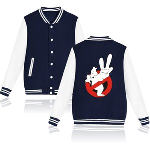 Ghostbusters Zip Up Baseball Veste Casacos Masculino Hiver Mode Streetwear Hip Hop College Bomber Veste Hommes Femmes Sweat À Capuche