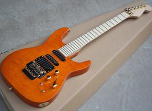 Два цвета электрической гитары с Floyd Rose, Gold Hardware, Flame Maple Шпон, можно подгонять как запрос