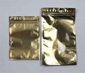 Claro plata dorada helada de plástico poli bolsas de embalaje de OPP cremallera Paquetes de PVC cajas al por menor de la mano del agujero para el teléfono celular cable USB Caso
