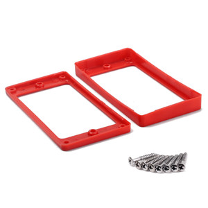 Red Plastic Pickup Mounting Ring for LP Guitar w  Screw Set of 2