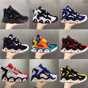 NewAirBarrage More Mid QS Scottie Pippen 2 Basketball Shoes Black White Purple Raptors Hyper Grape Big Kids classic Sport Sneakers