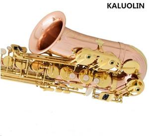 KALUOLIN Saxofón alto W307-S901 E bronce fosforado plano Cobre instrumentos musicales rosa Yanagisawa tocado profesional