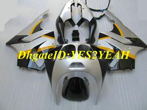 Мотоцикл обтекатель комплект для KAWASAKI Ninja ZX-7R ZX7R 1996 2003 ZX 7R 96 97 02 03 ABS серебро черный обтекатели комплект + подарки KZ07