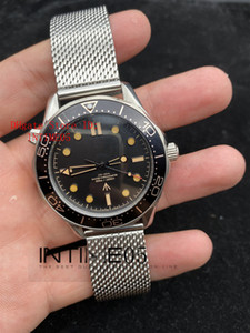 Black Luxury New Diver 300M 007 James Bond No Time to Die Limited 210.90.42.20.01.001 42MM Automatic Mens Watch Mesh Strap Watches