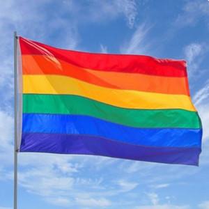 90x150 см Gay Pride Радуга Баннер Транссексуалов Лесбиянок ЛГБТ Радуга Баннер Полиэстер Флаги Праздничные Атрибуты Украшения Радуга Флаг BH2016 TQQ