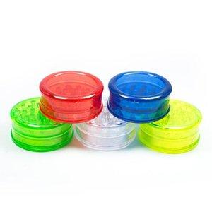 Plastic Grinder 60 millimetri 3 strati smerigliatrice per fumatori 4 colori denti di plastica Montare Grinders colorati trasporto veloce DHB313