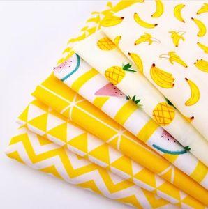 Metre ile 200x160cm Sarı Serisi Patchwork Pamuk kabartılmış Yorgancılık Kumaş Yüksek Kalite Nefes Pamuk Dikiş Malzeme İçin Bebek Çocuk