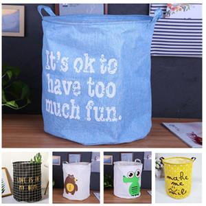 Recibir la cesta de la ropa sucia cubo de juguete de dibujos animados del arte del paño de artículos varios recibir cesta de lona resistente al agua capaz veces para recibir cubo de 20 colores