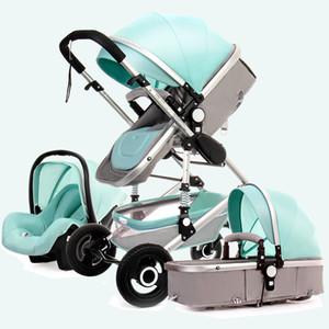 2020 Yüksek Peyzaj Bebek Arabası Kapanabilir İki Yönlü Hafif Katlanır Emici Çok Fonksiyonlu Yenidoğan Bebek Arabası