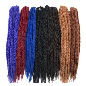 3D torsión cúbico ganchillo trenzas de pelo putrefacciones 12 / Paquete de 22 pulgadas de baja temperatura de fibras largas extensiones de pelo sintético 120g