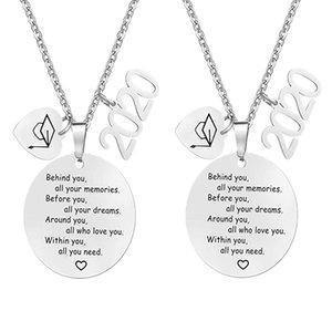 Мальчики и девочки ожерелье Выпускной Jewelry Good Friend Дружба подарки Выпускные Подарочные ожерелья 2рс