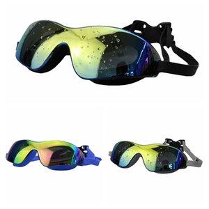 Водонепроницаемый Защита от ультрафиолетовых лучей Googles Swim износа глаз Anti-туман Купальники Красочные плавать Big очки унисекс Плавание Мужчины Женщины TX005