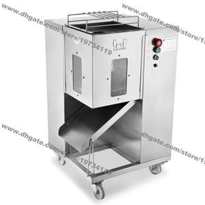 Freies Verschiffen 500kg / H 2,5 mm-25 mm-Doppelklingen 110v 220v Elektro Heavy Duty Restaurant Frischfleisch Hühnerbrust Dicer Schneidmaschine-Maschine