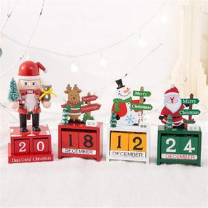 Ahşap takvim Noel hediyeleri çocuklara yaratıcı hediyeler ahşap takvim Noel geyik yaşlı kardan adam dekorasyonu Ev dekorasyonu
