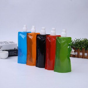 Portable Ultralight Foldable Water Bags Soft Flask Bottle Outdoor Sport Hiking Camping Water Bag Capacity 480ml-500ml EEA242