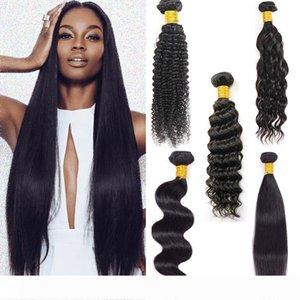9A Indian Human Hair 5 Bundles Unprocessed Brazilian Virgin Hair Straight 6 Bundles Deep Water Wave Extensions Bulk Order Wholesale Deal
