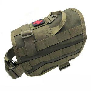 Dog Vest Tactical Dog Harness 1000D Nylon Molle Vest formação em serviço roupa Combate Caça