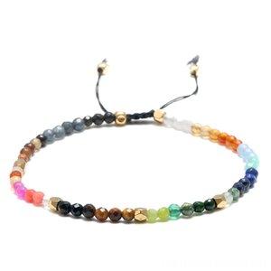 12 Constellation Lucky Stone Christmas Decorations Festive & Party Supplies Simple Bracelet 3Mm Beads Adjustable Bracelet Beaded Bohemia Bra