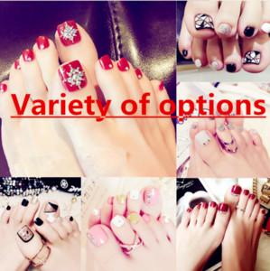 2019 Japanese and Korean toe nails finished fashion fake foot nails bride lasting waterproof variety collection