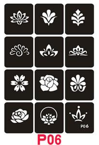 Temporary Tattoos Stencils Sheets Mädchen und Frauen Tattoo Kit Vorlagen Gesichts-Anstrich Stencil-Körper-Kunst-Schablone 21x29mm