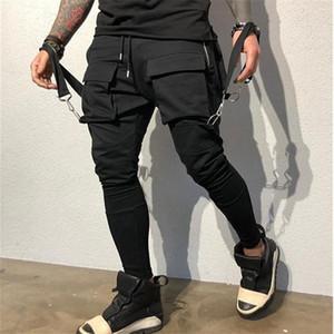 Большая Кармана Мужской дизайнерских брюки Моды хип-хоп стиль мужских брюки карандаша вскользь Самцы Одежда панелей