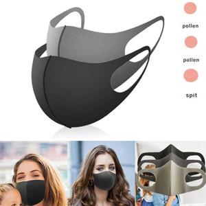 Black Mouth Mask a prova di polvere respirabile unisex Maschere viso spugna riutilizzabile Anti Inquinamento Shield vento bocca della prova di copertura Maschera Bocca Nera