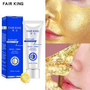 FAIR KING Skin Care Gold Blackhead Mask Treatment Peel Off Purifying Blackhead Remover Facial Mask Tea Tree Deep Cleansing