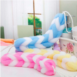 2Pcs set Random Colorful Cool Bath Scrubber Body Cleaning Mesh Shower Sponge Product Tool For Women Men Child Girl