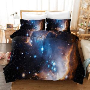 Jogo do fundamento Universo Céu estrelado capa de edredão com fronhas de solteiro Quarto Duplo completa Rainha King Size