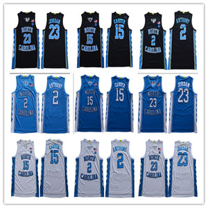 2020 North Carolina Tar Tarel # 2 Cole Anthony 23 Michael 15 Vince Carter College Basketball Jerseys S-3XL Nouveau Style cousu