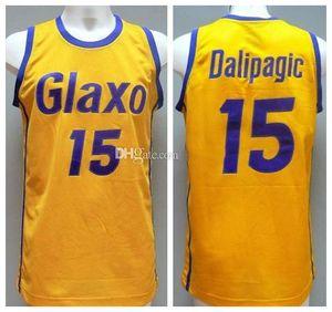 Glaxo Verona Drazen Dalipagic #Retro Jersey 15 Retro Basket Blackball Jersey Men's Stitched Numero personalizzato Numero Nome Numero