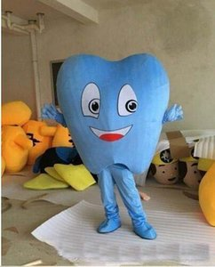 chaud 2019 usine adulte mascotte Blue Tooth Costume de déguisement Hot Sale Party Free Ship