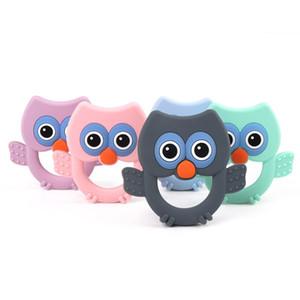 Hibou bébé silicone Teether Cartoon Baby Bird Chew Jouets Perle Teething Perles silicone sans BPA Croquer pour les bijoux