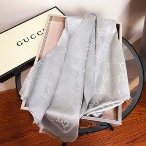bufanda de lana Sra manual de alta calidad de la perla de seda de la bufanda del color sólido de empalme salvaje bufanda chal nuevo estilo