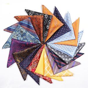 Модный мужской костюм карманный квадратный платок 25 * 25 см старинные полиэфирные платочки классический цветочный принт квадратное полотенце шарфы TTA1001