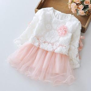 EOICIOI meninas vestir estilo verão outono manga longa flor padrão bebê crianças roupas menina vestidos infantis vestido infantil