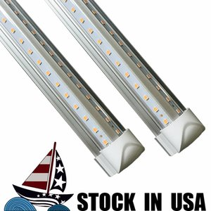 LED Tubes T8 LED 4ft 5ft 6ft 8ft Integrated 4Feet Tube Light SMD 2835 100LM W AC85-265V v shaped led usa FCC