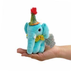 13cm Cute Simulation Elephant Plush Key Chain Pendant Toys Soft Cartoon Elephant Stuffed Doll Backpack Keychain Bag Pendant Kids