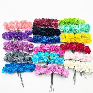 144 штуки 2 см мини пена роза букет из искусственных цветов свадебные украшения своими руками