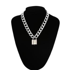 Goth Cadeado Cadeia Colar mulheres / homens do punk gargantilha bloqueio pingente de colar de emo gothic grunge jóias