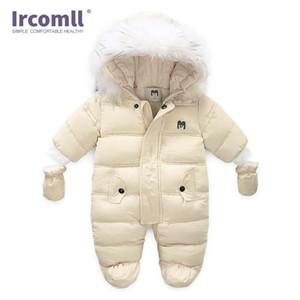 Ircomll Yeni Doğan Bebek Kış Toddle Jumpsuit Kapşonlu İç Polar Girl Boy Giyim Sonbahar tulumları çocuklar Kabanlar Y200320