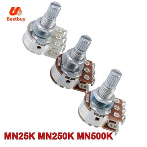 50Pcs Double équilibre Stacked Knurled Stalk Guitare Basse Volume Tone contrôle Pots Potentiometer Switch - MN25K - MN250K - MN500K