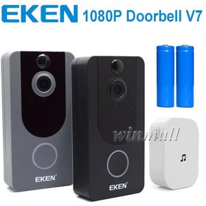 EKEN V7 1080P المنزل الذكي كاميرا فيديو الجرس اللاسلكي واي فاي في الوقت الحقيقي الهاتف الفيديو سحابة التخزين للرؤية الليلية البير كشف الحركة