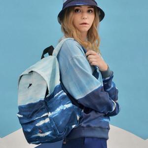 Großhandel reisetasche der frauen frauen schultaschen Marke Landschaft druck rucksack stickerei weibliche mode literarischen rucksack