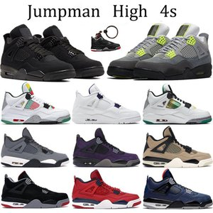 Nike air jordon retro 2019 4s Hombres Zapatillas de baloncesto Thunder Pure Money Bred 4 Athletic Cool Grey Flight Nostalgia Military Blue Designer Trainers Sport Sneakers