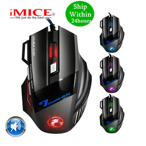 iMICE Professional Wired Silent Gaming Mouse 7 Button 5500 DPI LED Optical USB Computer Mouse Gamer Mice X7 Game Mouse Silent