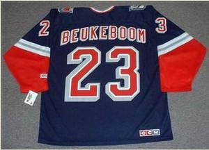 las mujeres de Hombres jóvenes Vintage # 23 Jeff Beukeboom New York Rangers 1998 CCM Hockey Jersey del tamaño S-5XL o costumbre cualquier nombre o un número