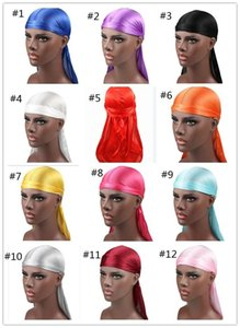 Accessories Durags Silky Men Mens Designer Headband Durag Male Bandana Hats Wigs Headwear Turban Pirate Satin Hair Caps Dxlwo