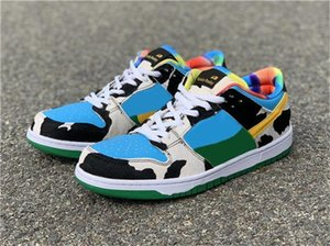 Authentic Ben &Jerry &#039 ;S X Sb Dunk Low Pro Qs Chunky Dunky Casual Shoes Men Women Lagoon Pulse Black University Gold Cu3244 -100 With